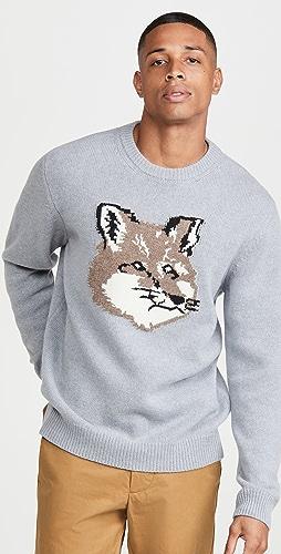 Maison Kitsune - Big Fox Head Pullover Sweater