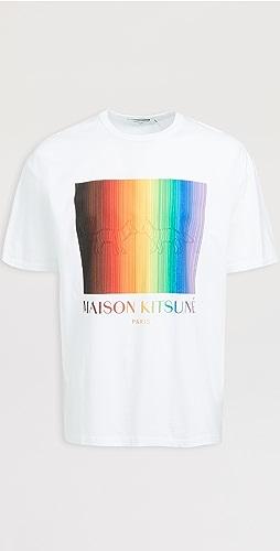 Maison Kitsune - Gradient Rainbow Oversized T-Shirt