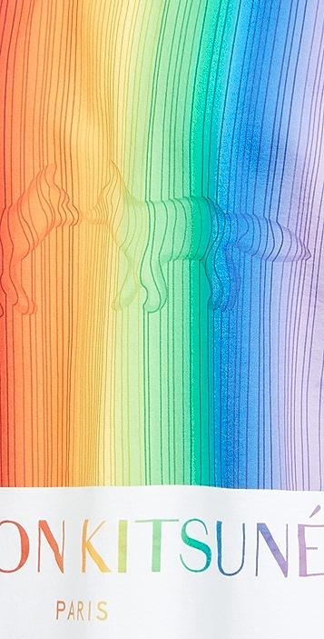 Maison Kitsune Gradient Rainbow Oversized T-Shirt