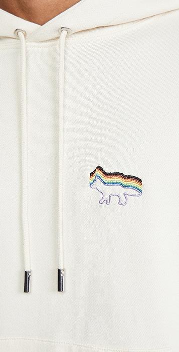 Maison Kitsune Gradient Rainbow Hoodie
