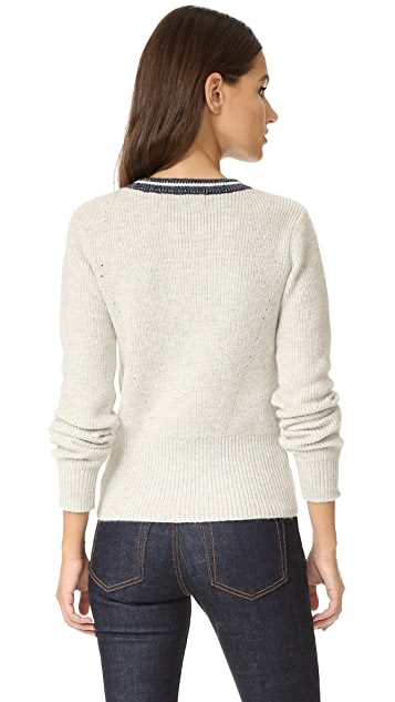 Scotch & Soda/Maison Scotch Lace Up Sweater
