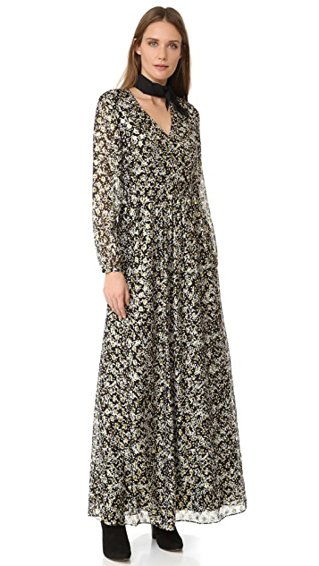 Scotch & Soda/Maison Scotch Jacquard Maxi Dress