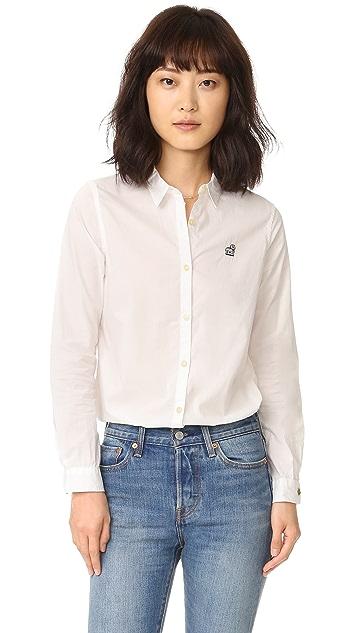 Scotch & Soda/Maison Scotch Preppy Shirt With Embroidery