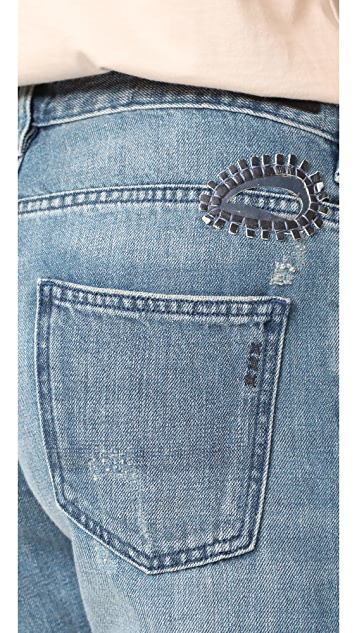 Scotch & Soda/Maison Scotch L'Adorable Jeans with Leather Patches