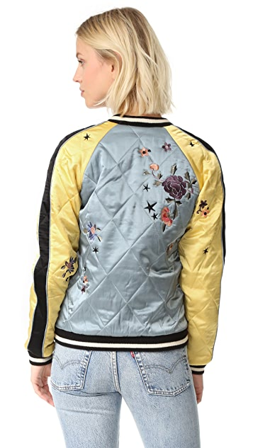 Scotch & Soda/Maison Scotch Embroidered Bomber Jacket