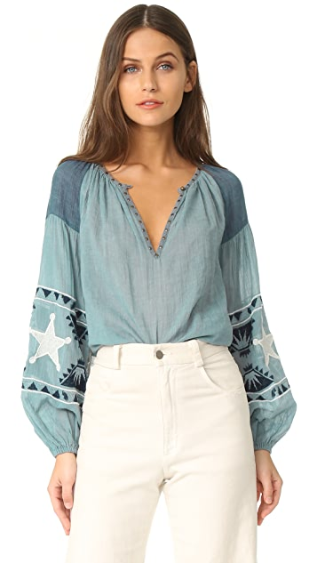 Scotch & Soda/Maison Scotch Embroidered blouse