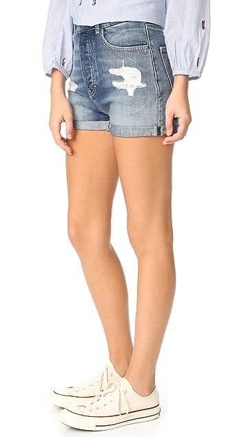 Scotch & Soda/Maison Scotch Ocean Reflection High Waist Shorts