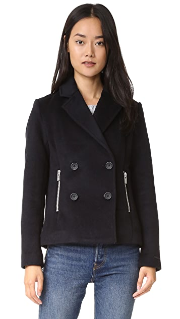 9b7833a5a3039 Scotch   Soda Maison Scotch Wool Pea Coat with Zip Pockets   SHOPBOP