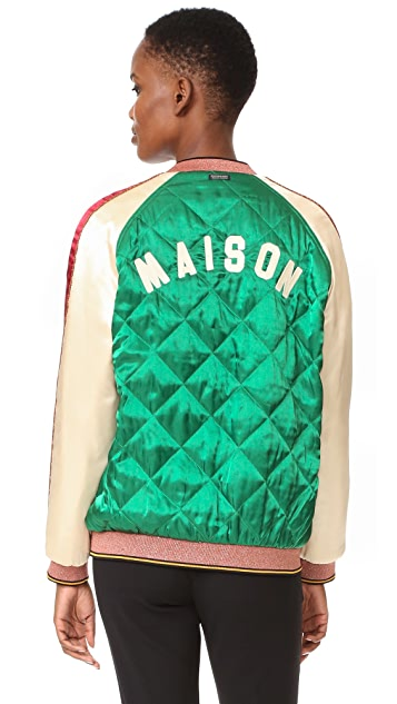 Scotch & Soda/Maison Scotch Reversible Bomber Jacket
