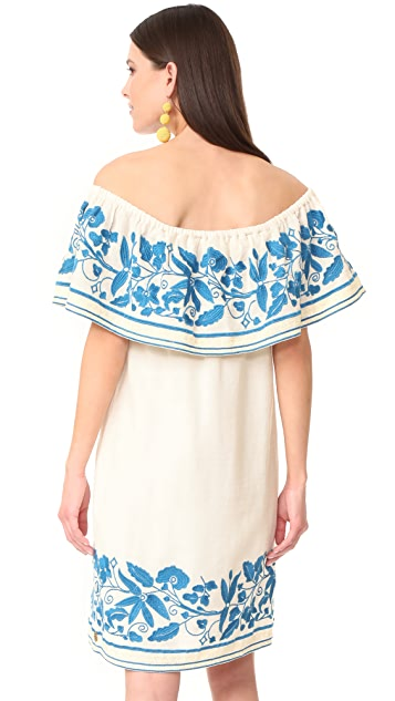 Scotch & Soda/Maison Scotch Boho Off Shoulder Embroidered Dress