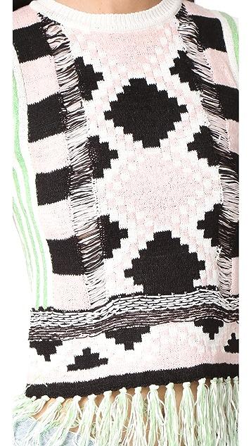 Scotch & Soda/Maison Scotch Basket Weave Knitted Top