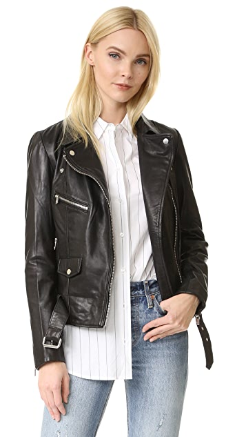 Scotch & Soda/Maison Scotch Leather Biker Jacket