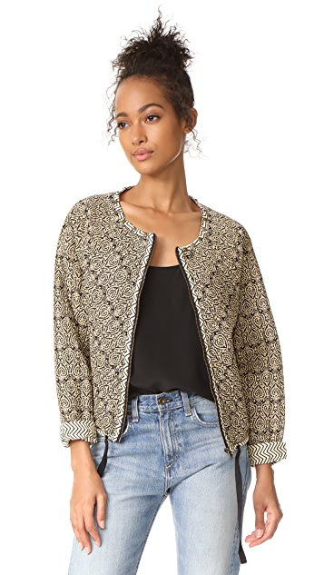 Scotch & Soda/Maison Scotch Quilted & Allover Printed Bomber Jacket