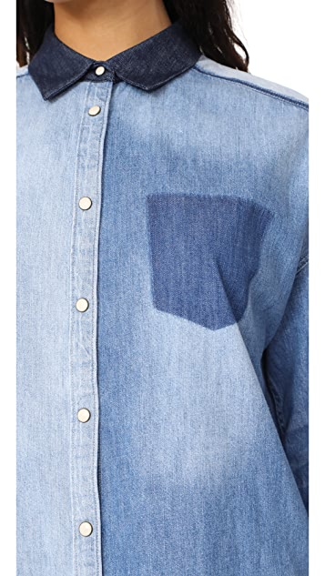 Scotch & Soda/Maison Scotch Customized Denim Shirt