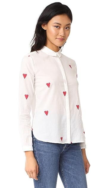 Scotch & Soda/Maison Scotch Heart Print Basic Shirt