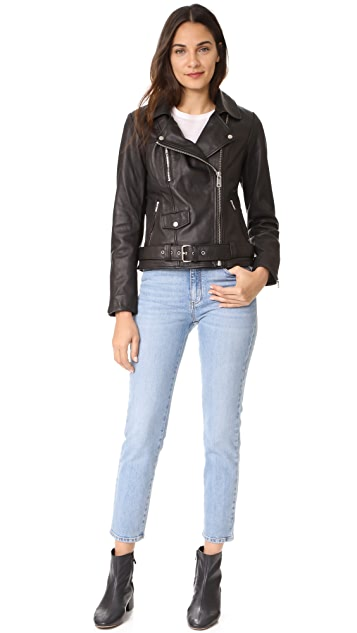 Scotch & Soda/Maison Scotch Basic Leather Biker Jacket