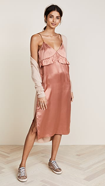 Scotch & Soda/Maison Scotch Silk Pajama Inspired Slip Dress