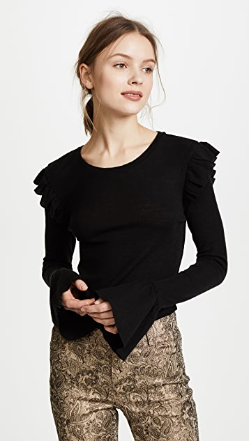 Scotch & Soda/Maison Scotch Ruffle Sweater