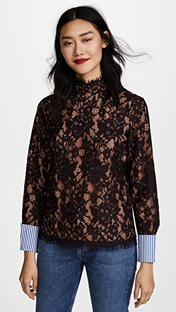 Scotch & Soda/Maison Scotch High Neck Lace Top