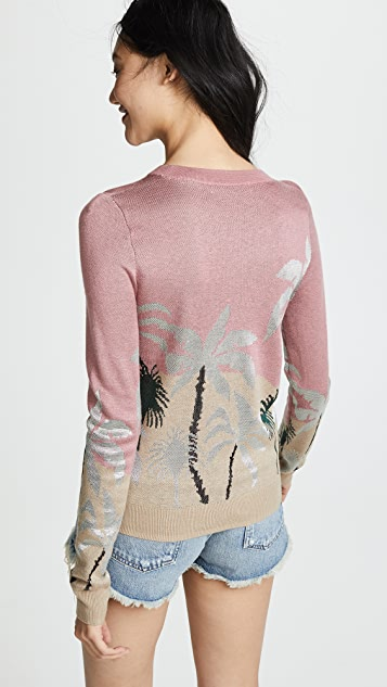 Scotch & Soda/Maison Scotch Fitted Palm Tree Sweater