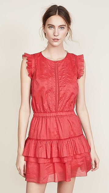 Scotch & Soda/Maison Scotch Sleeveless Dress with Pleated Ruffle