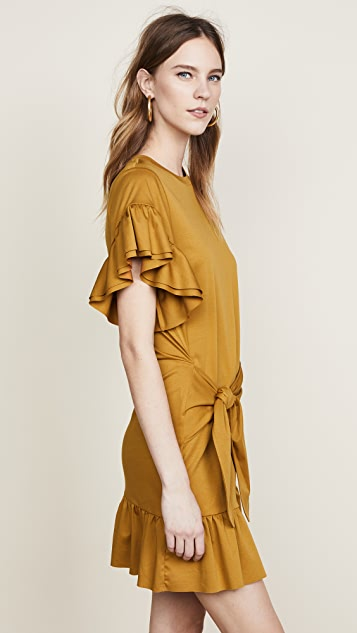 Scotch & Soda/Maison Scotch Ruffle Wrap Dress