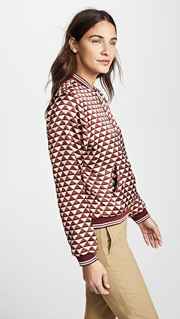 Scotch & Soda/Maison Scotch Reversible Print Bomber Jacket