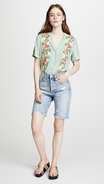 Scotch & Soda/Maison Scotch Poolside Short Sleeve Button Down