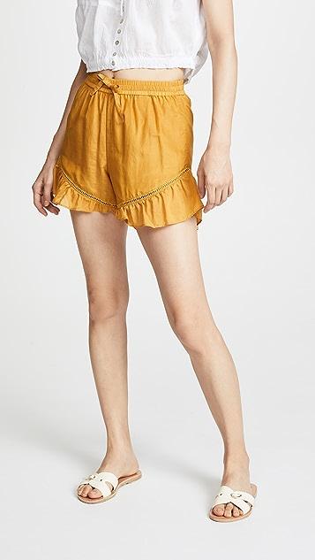 Scotch & Soda/Maison Scotch Cotton Silk Shorts