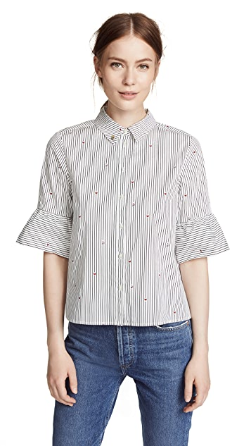 Scotch & Soda/Maison Scotch Flare Sleeve Button Down Shirt