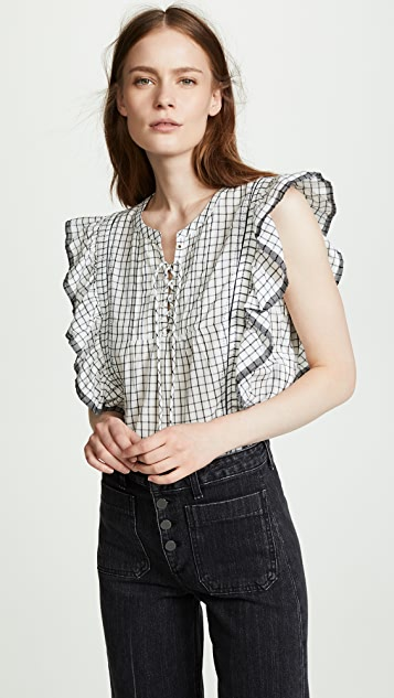 Scotch & Soda/Maison Scotch Ruffled Sleeve Top