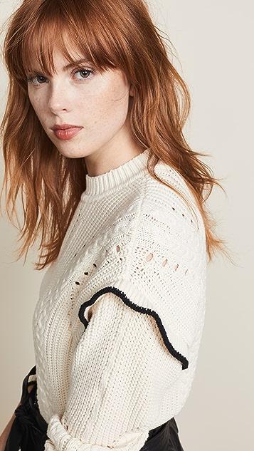 Scotch & Soda/Maison Scotch Ruffle Sweater