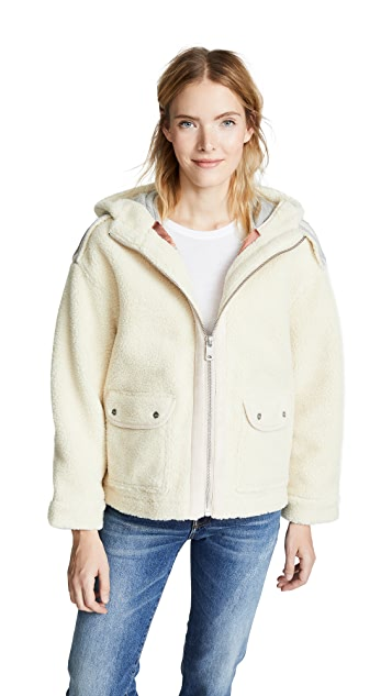 Scotch & Soda/Maison Scotch Bonded Teddy Jacket