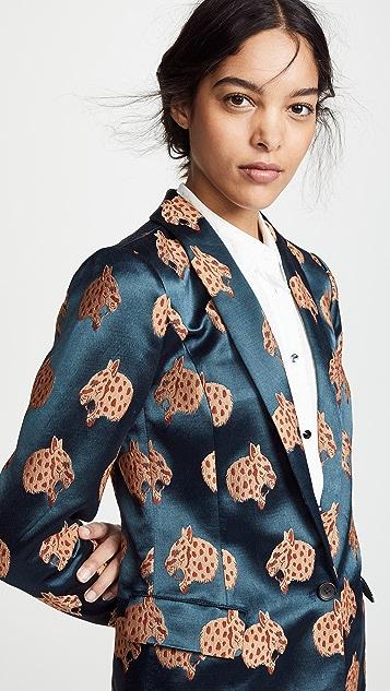 Scotch & Soda/Maison Scotch Cheetah Long Length Blazer