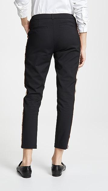 Scotch & Soda/Maison Scotch Side Embroidered Tailored Pants