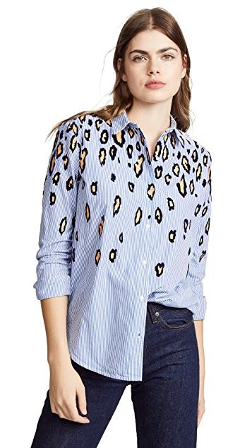 Scotch & Soda/Maison Scotch Animal Print Button Down
