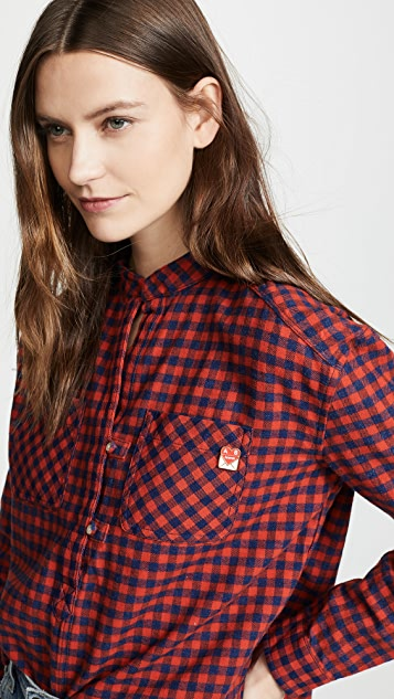 Scotch & Soda/Maison Scotch Loose Checked Top