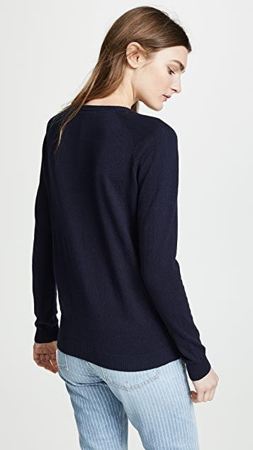 Scotch & Soda/Maison Scotch Basic Pullover with Buttons