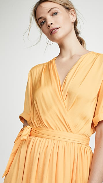 Scotch & Soda/Maison Scotch Midi Wrap Dress