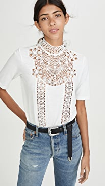 Lace Patch Tee