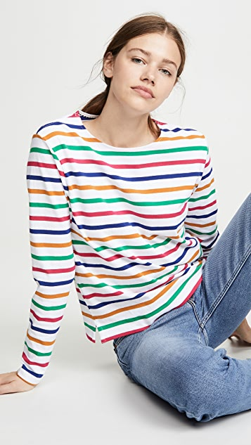 Scotch & Soda/Maison Scotch 经典长袖布列塔尼 T 恤