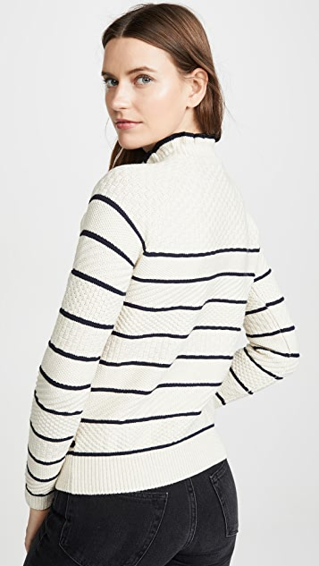 Scotch & Soda/Maison Scotch Button Detail Basic Sweater