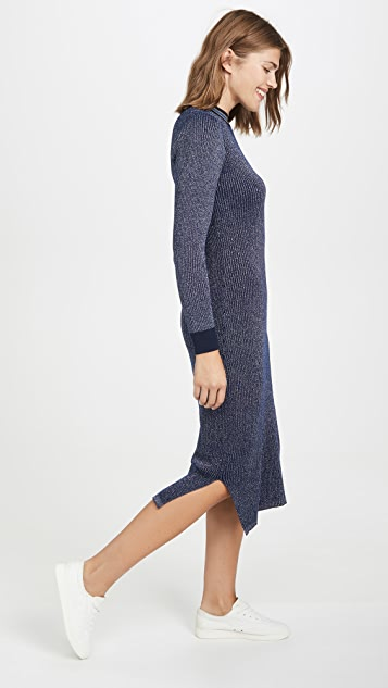 Scotch & Soda/Maison Scotch Metallic Knitted Midi Dress