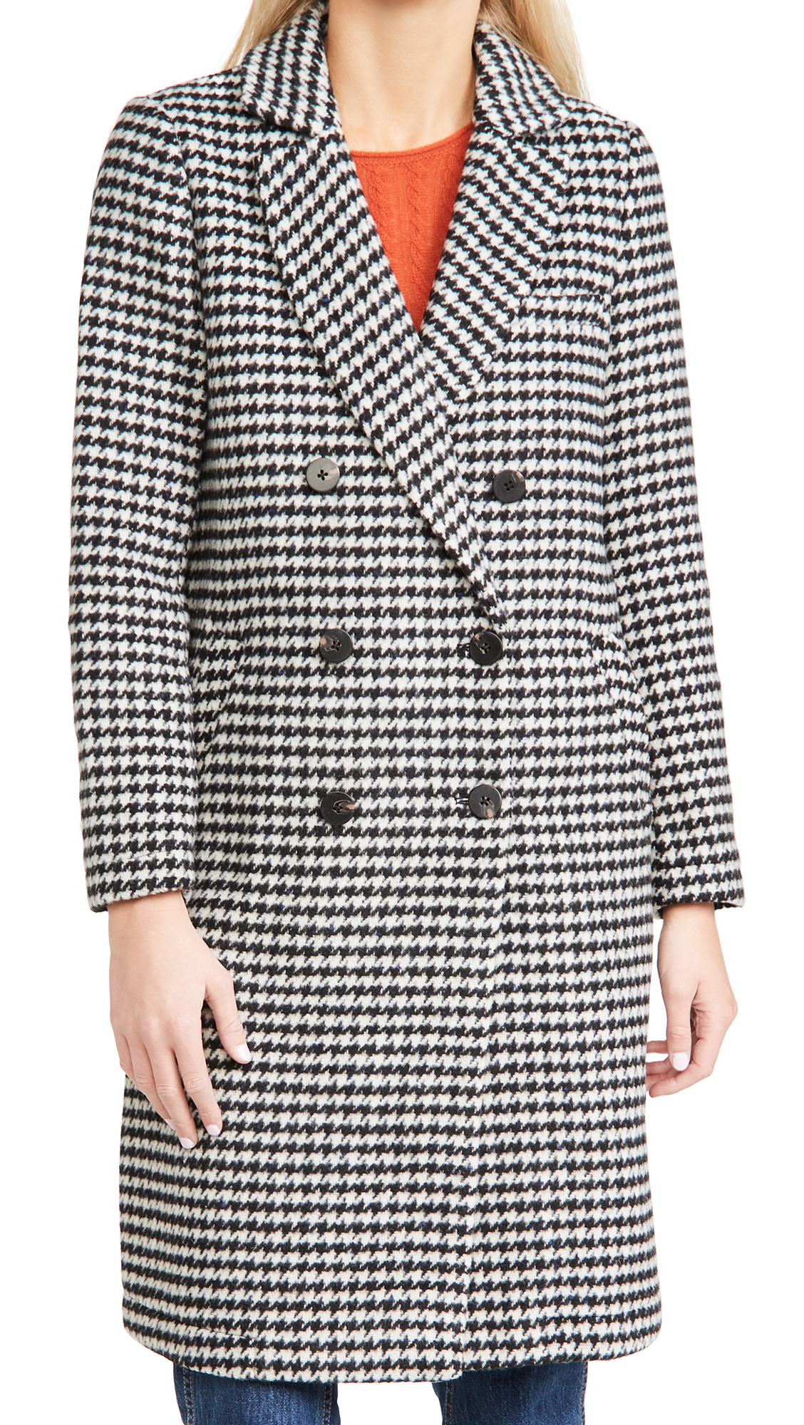 Scotch & Soda/Maison Scotch Double-Breasted Tailored Wool Coat