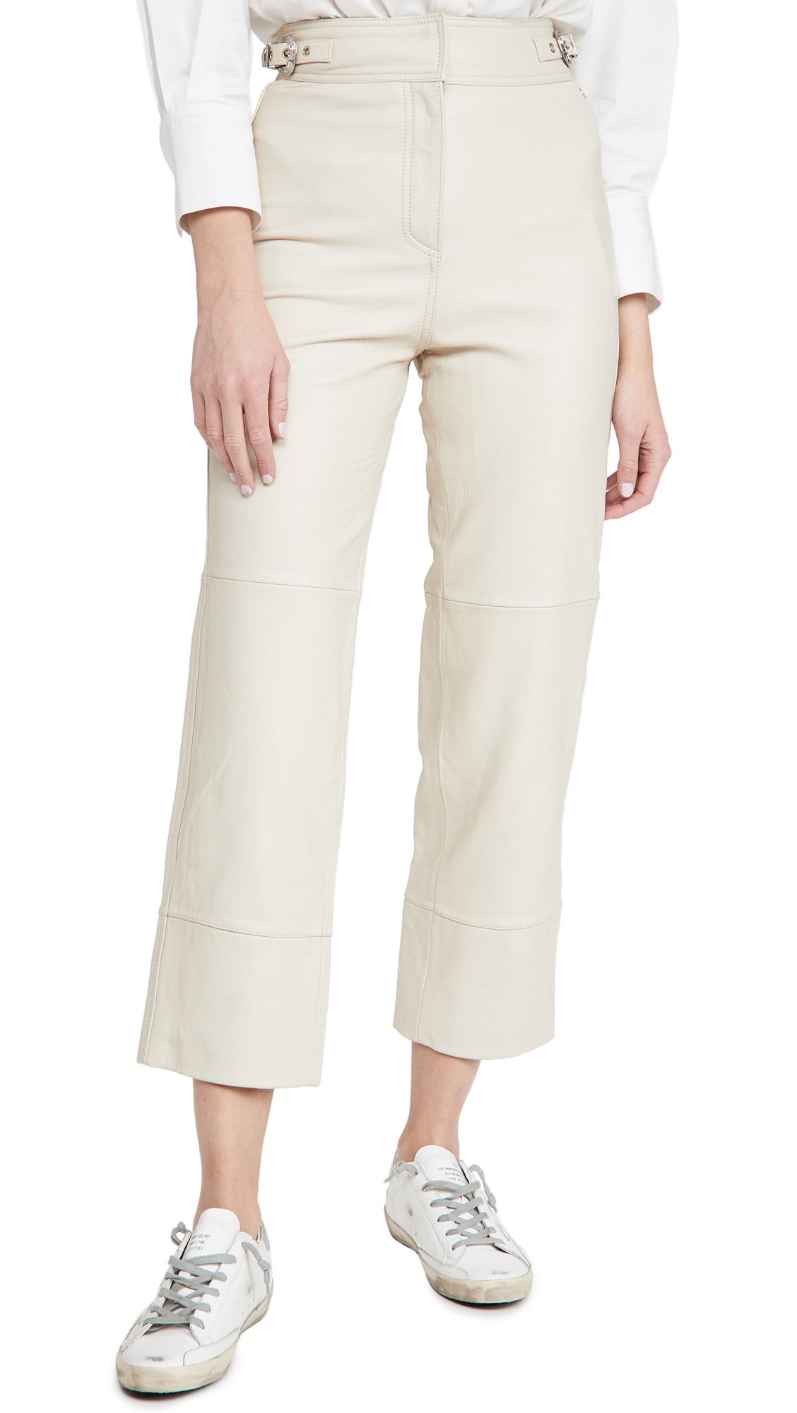 Scotch & Soda/Maison Scotch Straight Leg Leather Pants