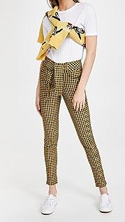 Scotch & Soda/Maison Scotch 高腰紧身格纹裤