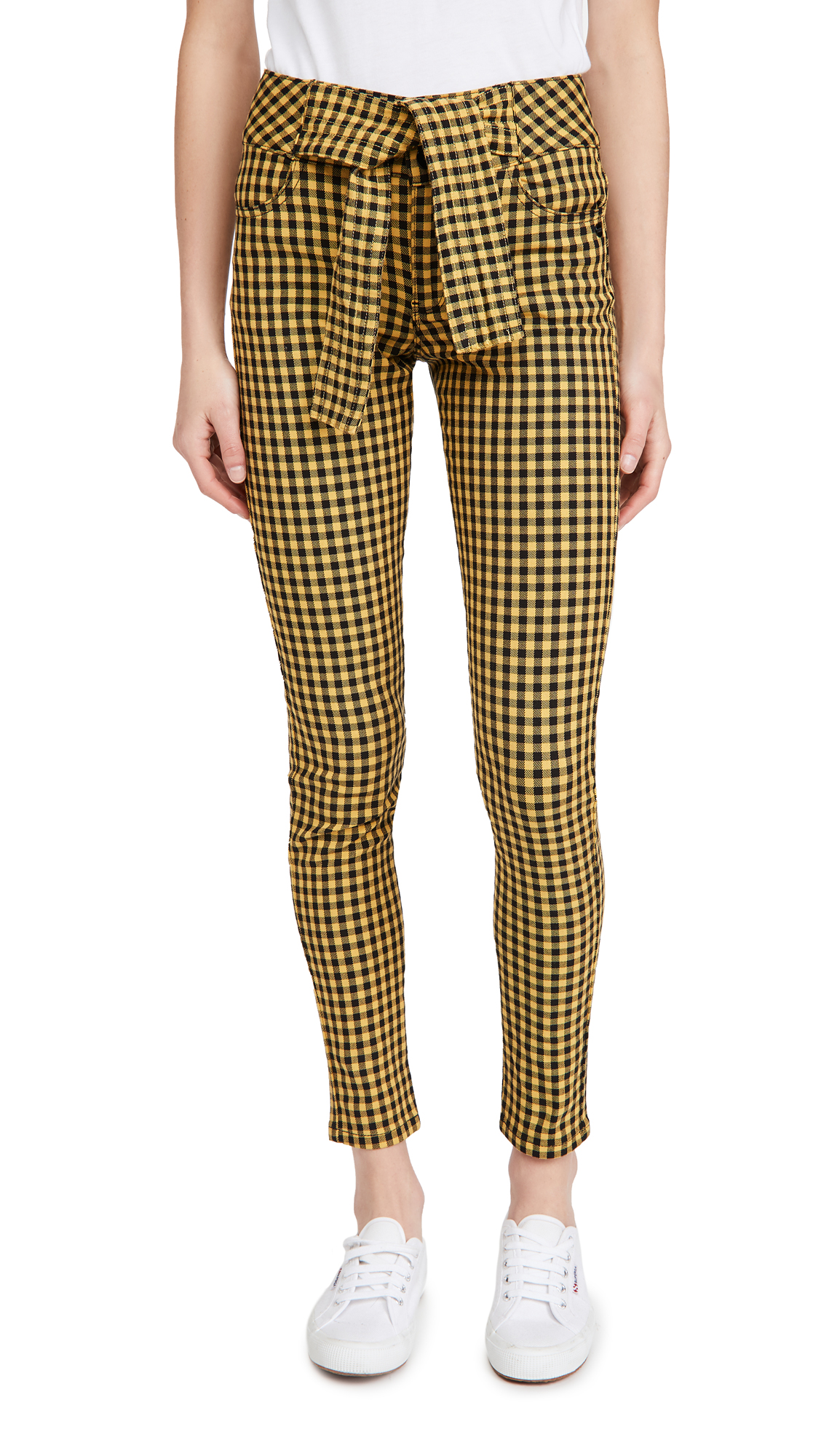 Scotch & Soda/Maison Scotch High-Rise Skinny Checked Pants