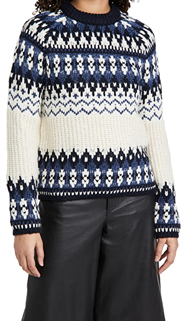Scotch & Soda Fair Isle Crewneck Knit Sweater