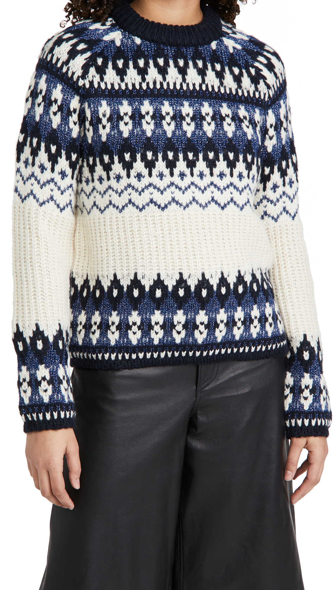 Scotch & Soda/Maison Scotch Fair Isle Crewneck Knit Sweater
