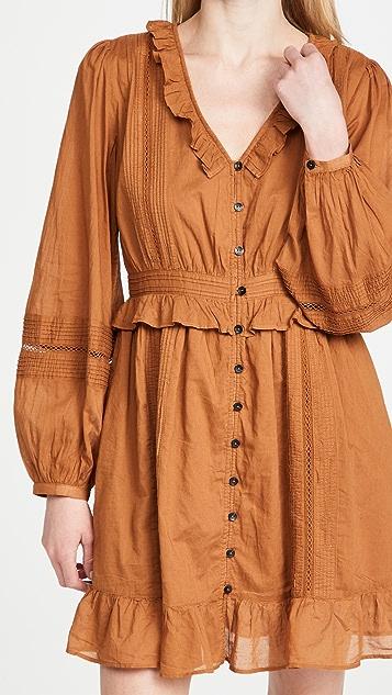Scotch & Soda Ruffled Cotton Dress